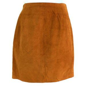 The Limited Skirt Leather Suede Vtg Lined Vent S